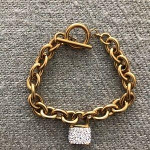 Gold Lock Bracelet